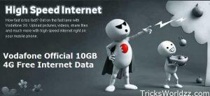 Vodafone Official 10GB 4G Free Internet Data