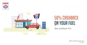 Get Flat 50% Freecharge Cashback Offers HP Petrol Pumps