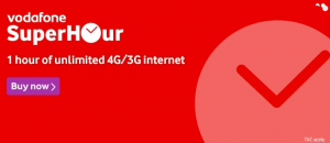 Vodafone SuperHour Packs – Get Free Unlimited 3G | 4G Internet Data With Voice Calls