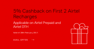Airtel Prepaid & Airtel DTH Recharge Coupons
